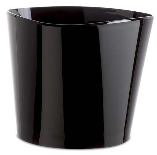 Vasque acrylique Mida noire