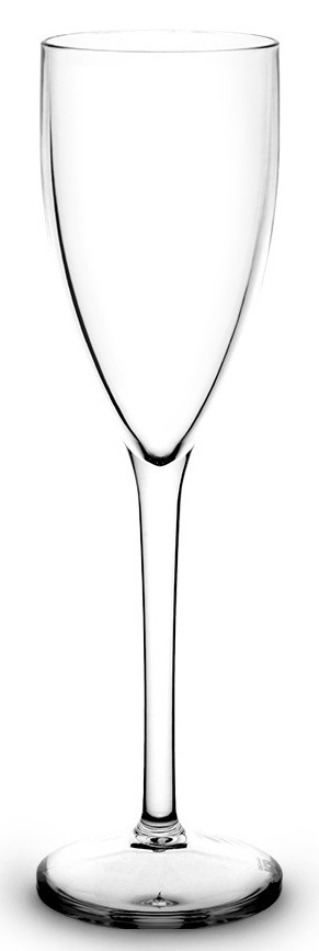 Flte à champagne 12 cl transparente incassable