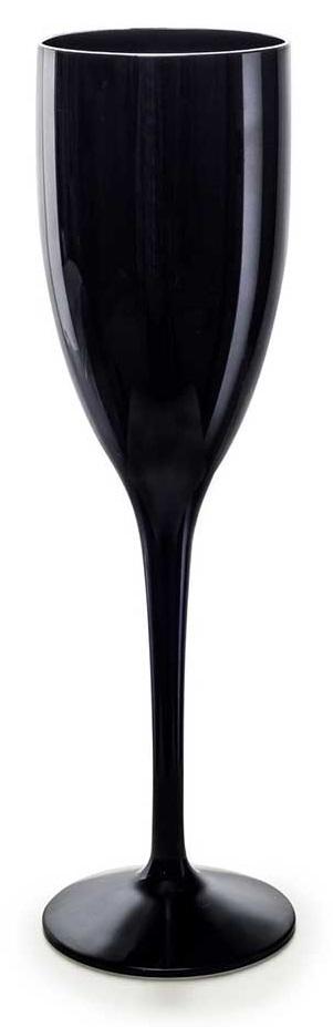 Flte champagne 15 cl noire incassable