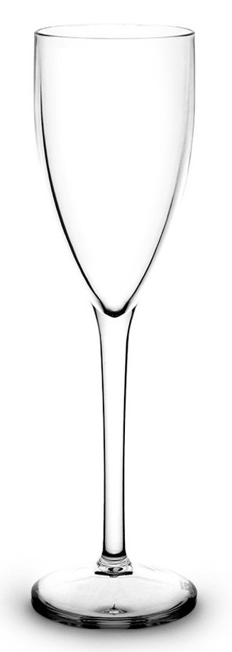 Flte champagne 15 cl transparente incassable