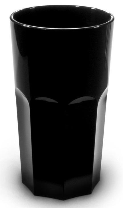 Verre rétro noir 33 cl incassable