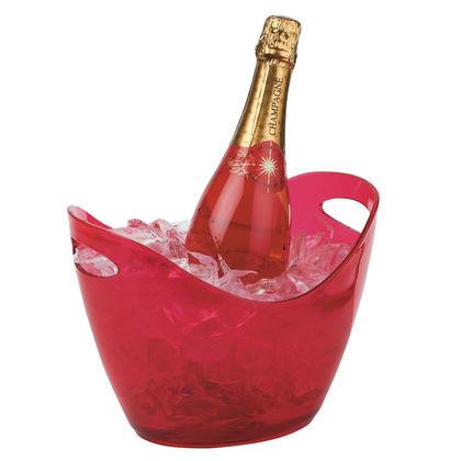 Seau champagne plastique rose 30143